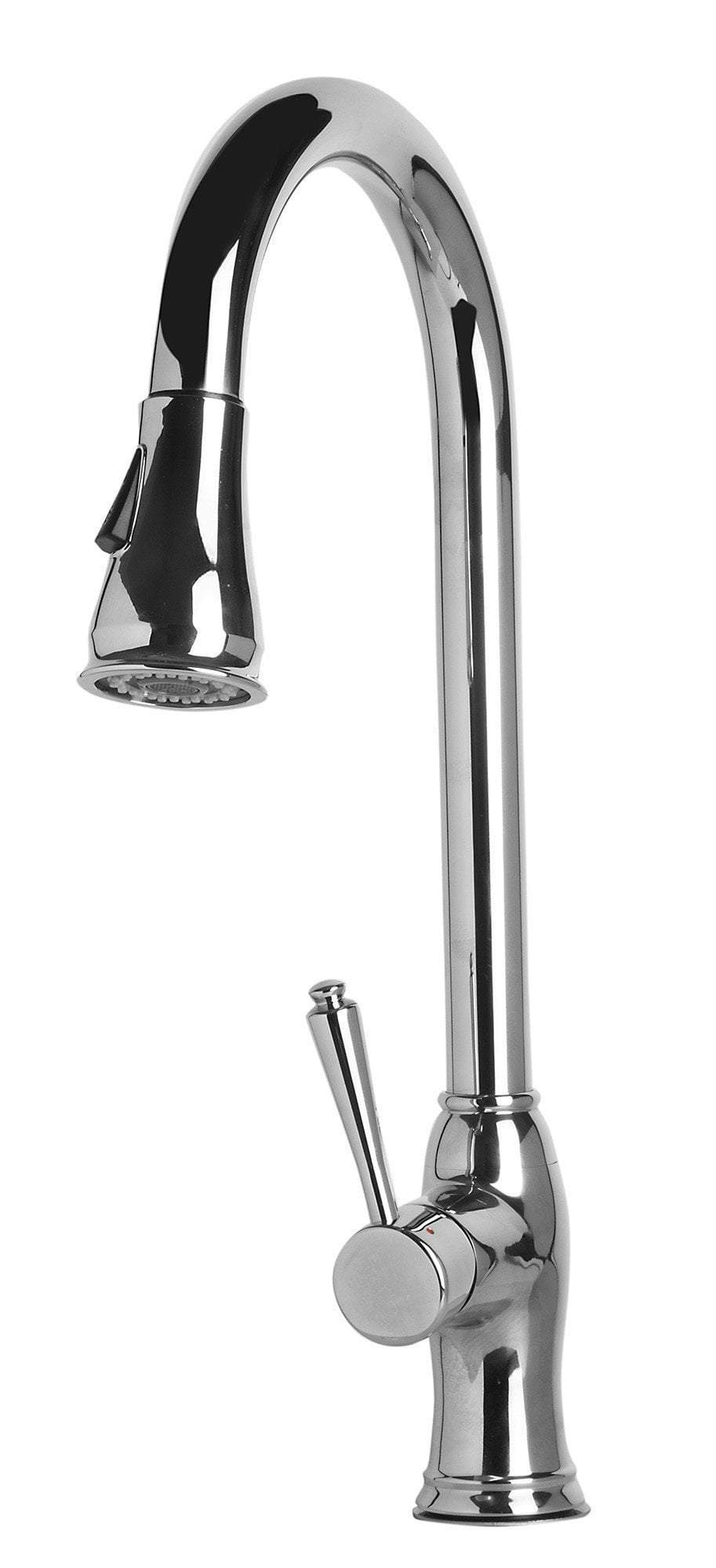 alfi traditional solid polished stainless steel pull down kitchen faucet ab2043 pss