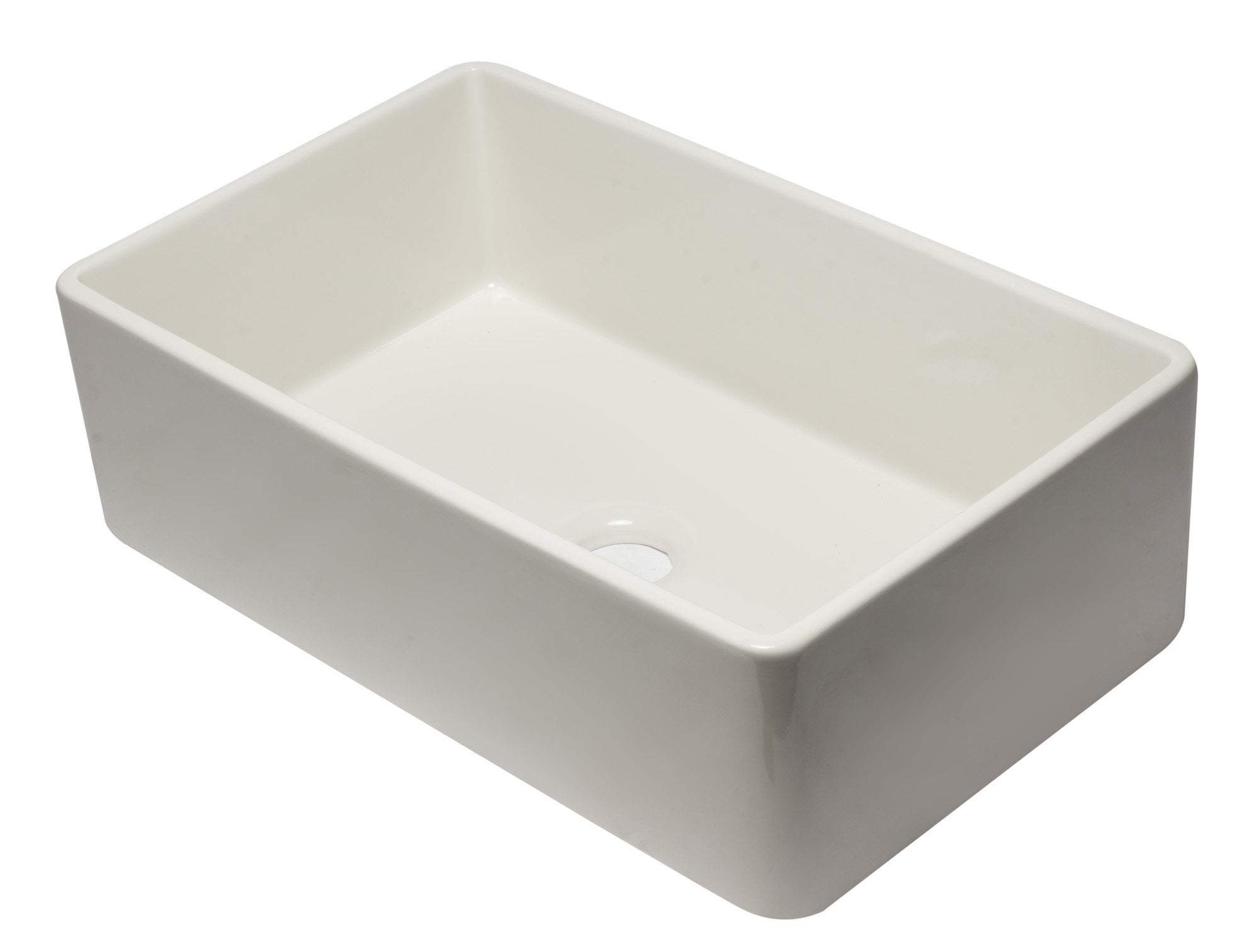 33 inch Biscuit Reversible Single Fireclay Farmhouse Kitchen Sink