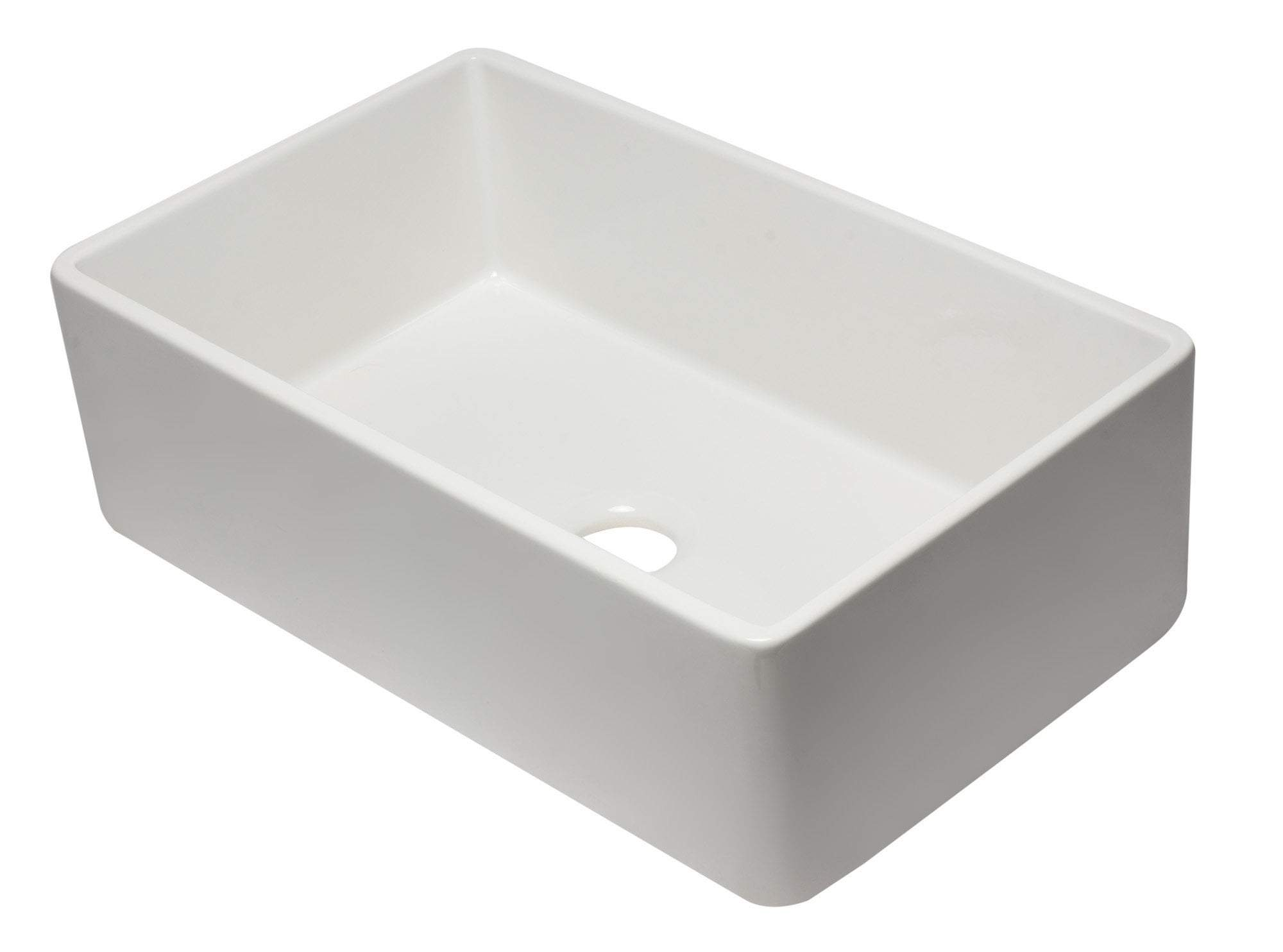 33 inch White Reversible Single Fireclay Farmhouse Kitchen Sink