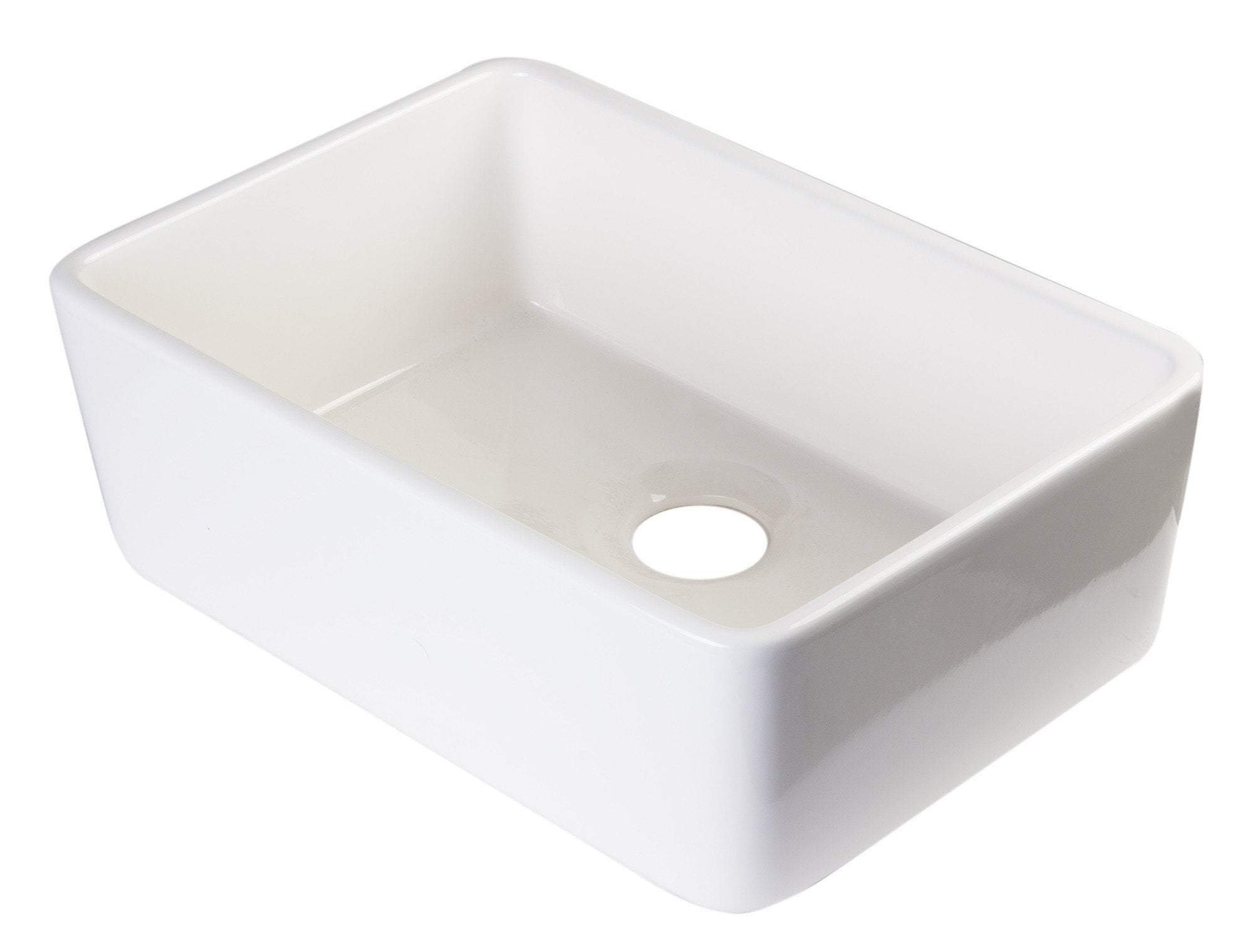 alfi biscuit 23 fireclay single bowl farmhouse kitchen sink ab503 b