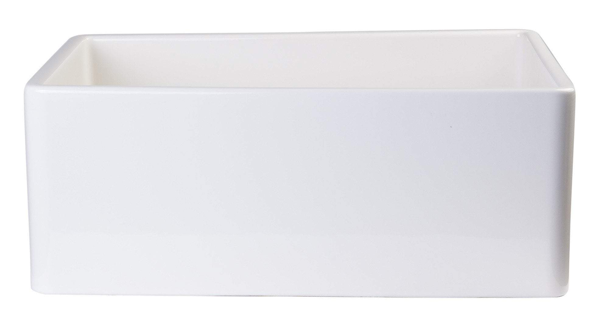 alfi biscuit 26 contemporary smooth fireclay farmhouse kitchen sink ab505 b