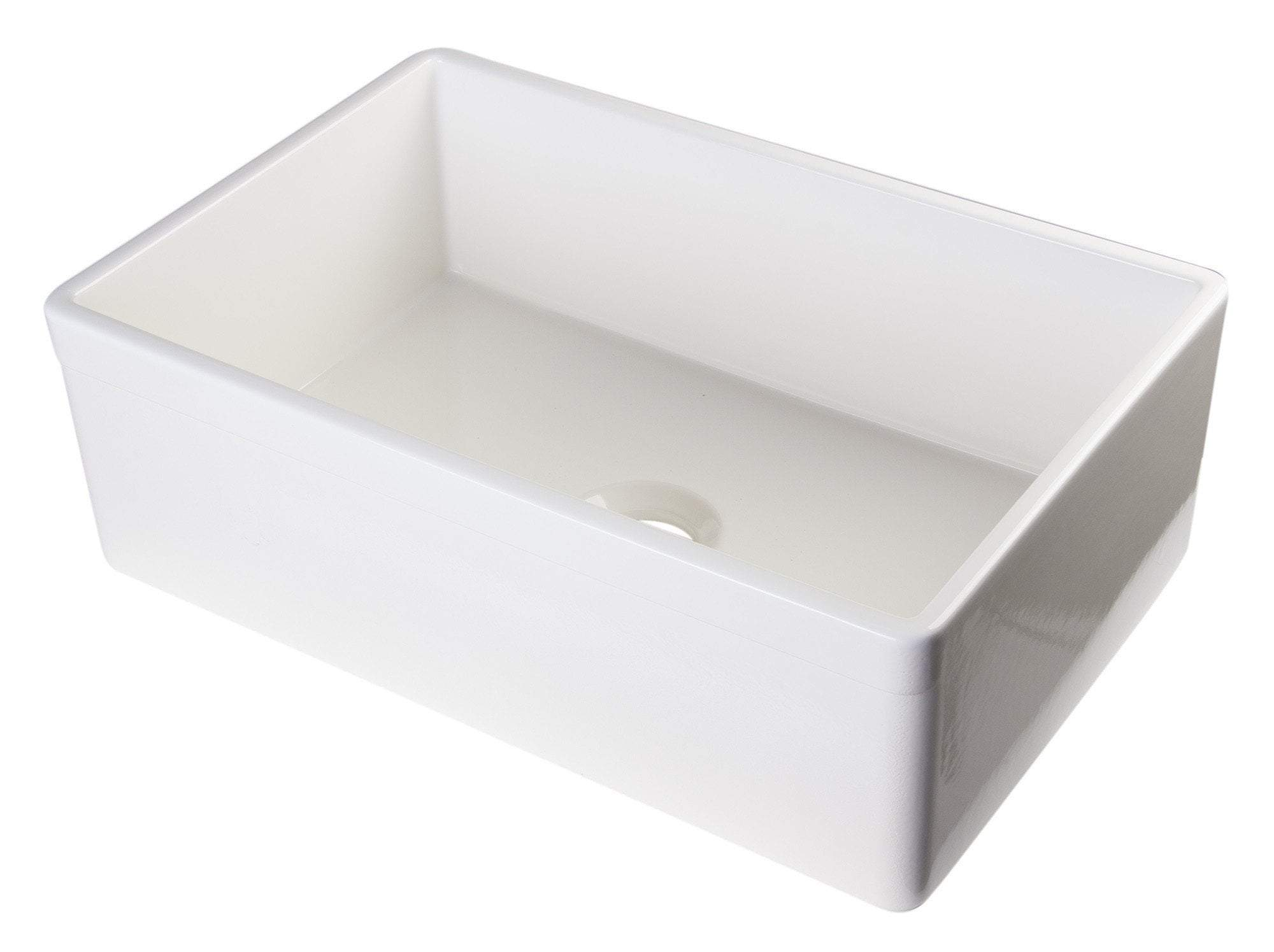 alfi biscuit 30 contemporary smooth fireclay farmhouse kitchen sink ab510 b