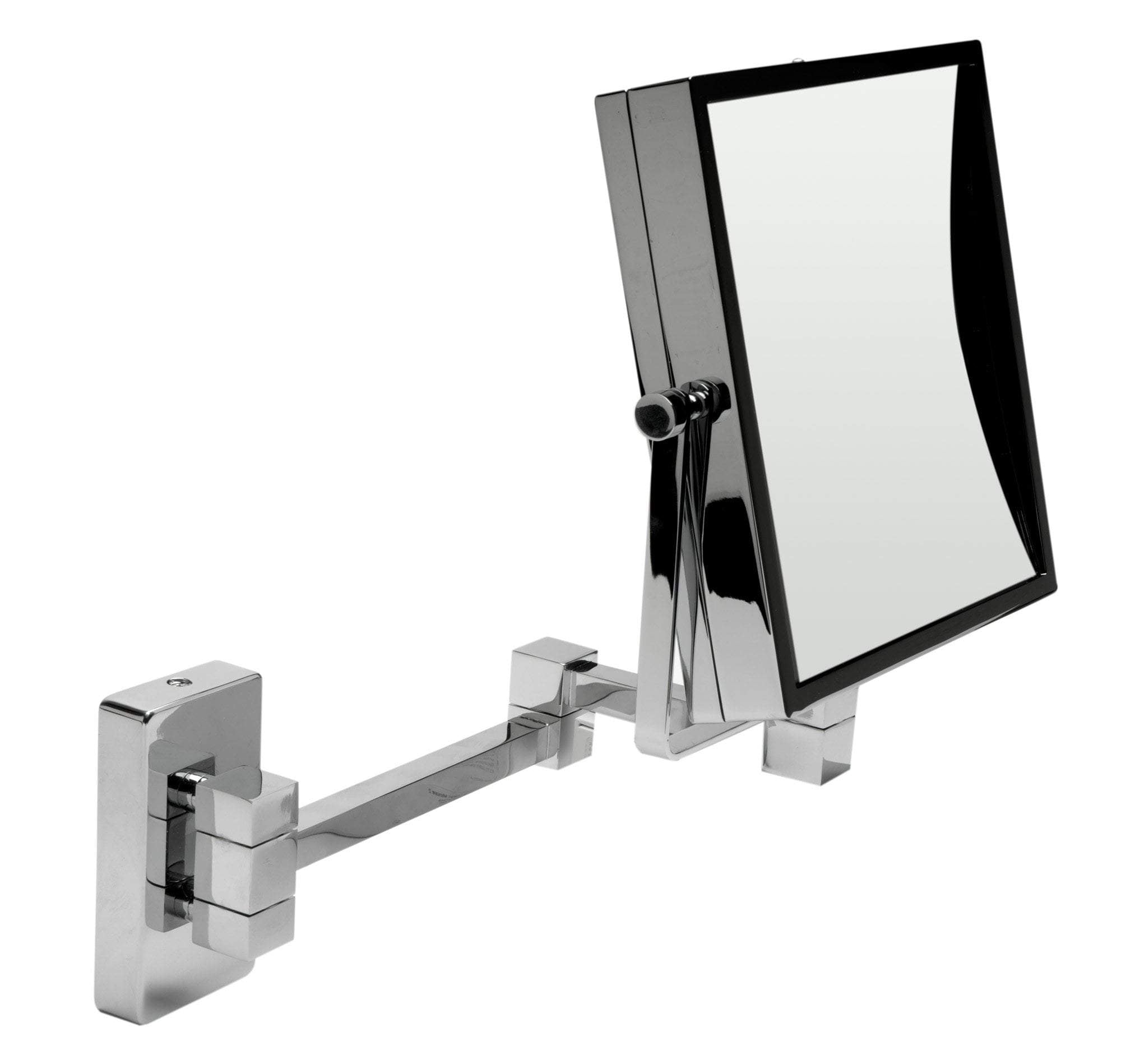 "ALFI brand ABM8WS-PC 8"" Square Wall Mounted 5x Magnify Cosmetic Mirror"