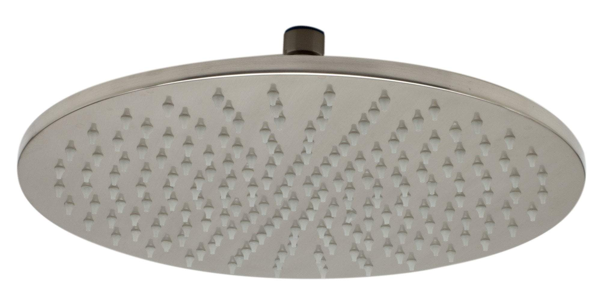 "ALFI brand LED12R-BN Brushed Nickel 12"" Round Multi Color LED Rain Shower Head"