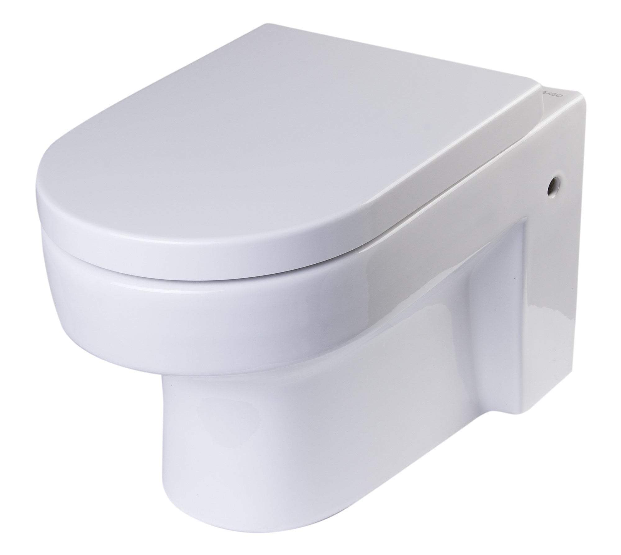 Round Modern Wall Mount Dual Flush Toilet Bowl