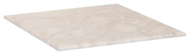 Bellaterra Carrara Marble Counter Top, White, 16""