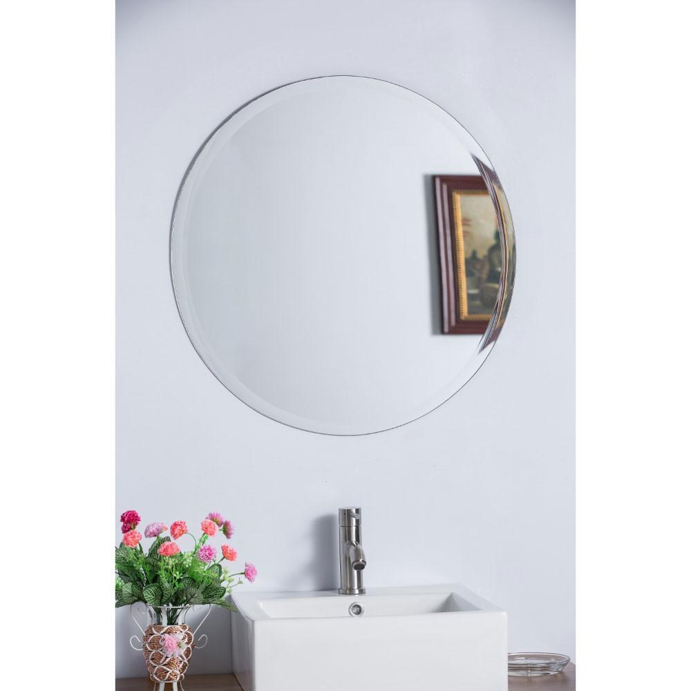 "22"" Round Frameless Mirror"