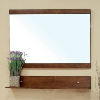"24"" x 26"" Mirror, Solid Wood Frame, Walnut"