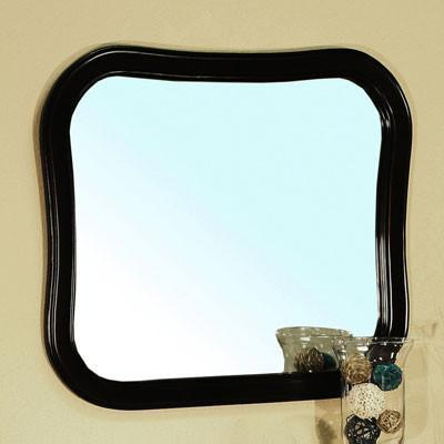 "34.5"" x 30.25"" Mirror, Solid Wood Frame, Espresso"