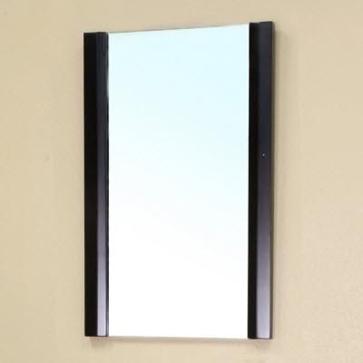 "Bellaterra 19.7""W x 31.5""H Bathroom Vanity Mirror, Solid Wood Frame, Black"