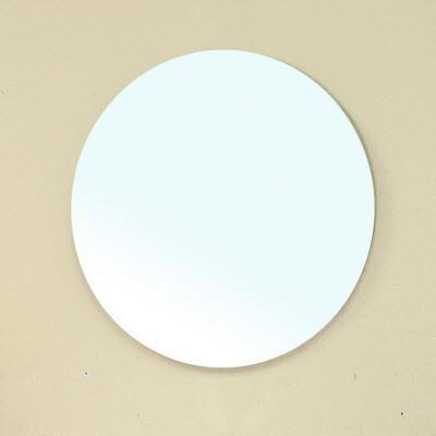 "Bellaterra Round 22.1"" Frameless Bathroom Vanity Mirror"