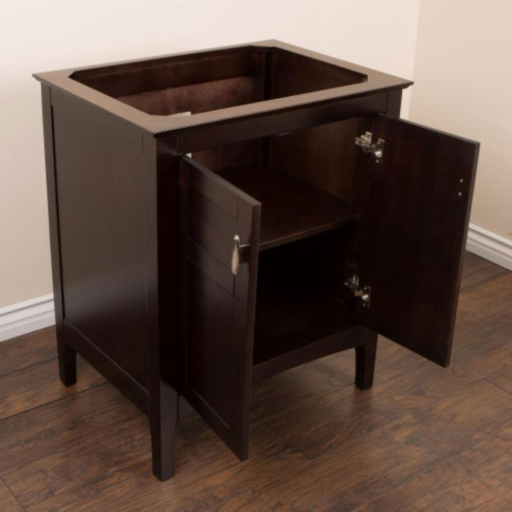 "Bellaterra 29"" Single Sink Bathroom Vanity, Sable Walnut Finish, Cabinet Only"
