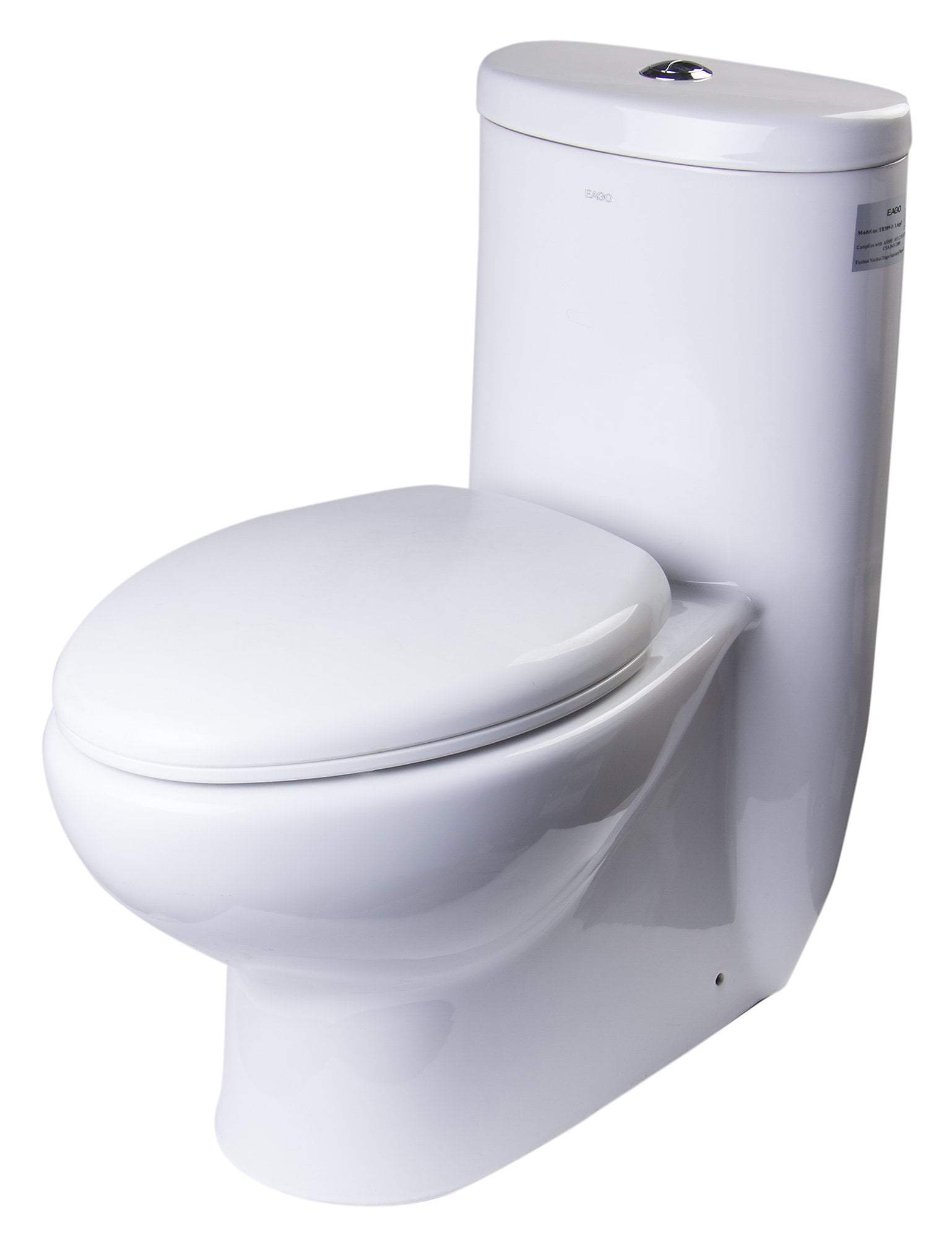 EAGO TB309 TALL DUAL FLUSH ONE PIECE ECO-FRIENDLY HIGH EFFICIENCY LOW FLUSH CERAMIC TOILET