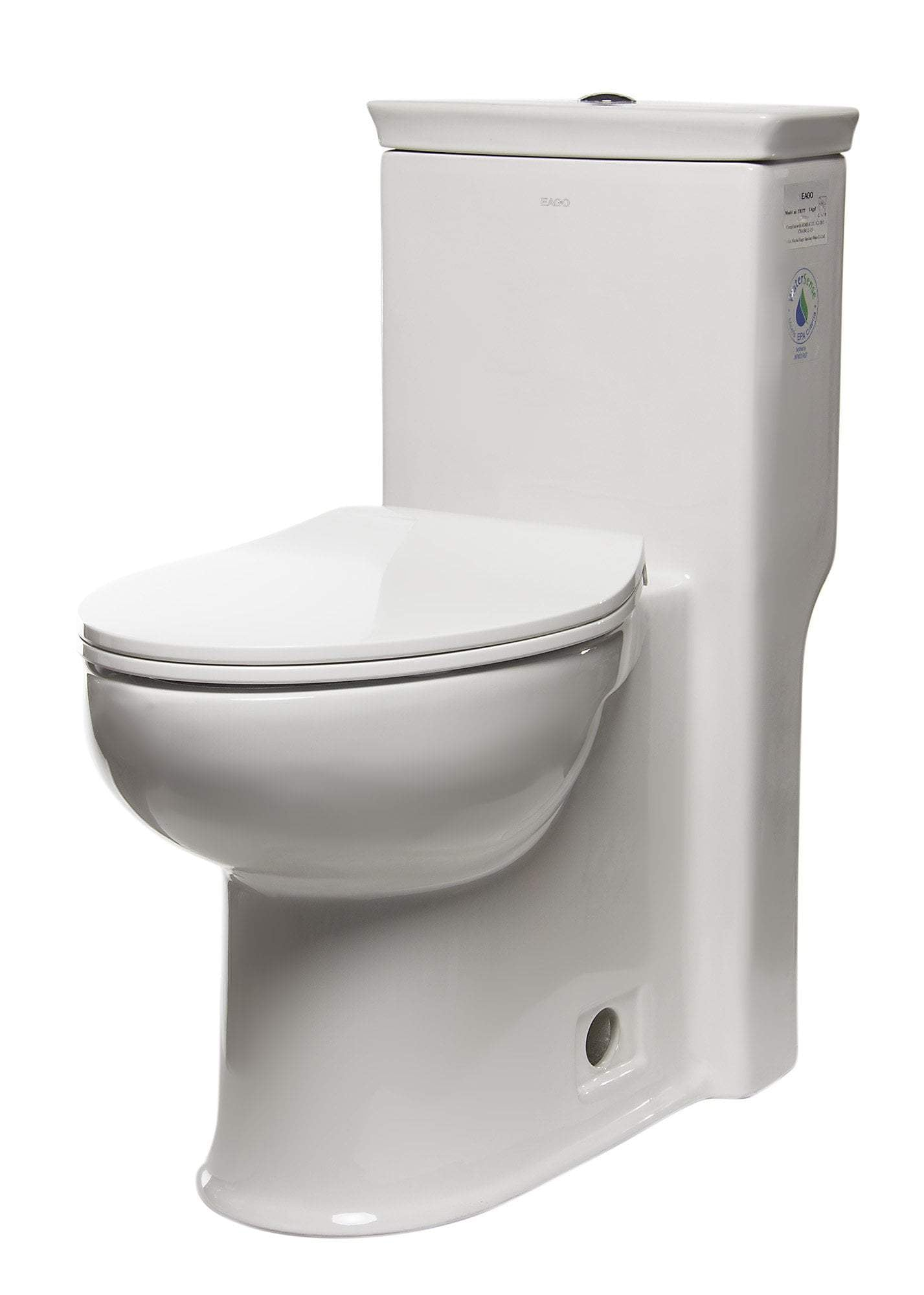 EAGO TB377 ADA Compliant One Piece Single Flush Toilet