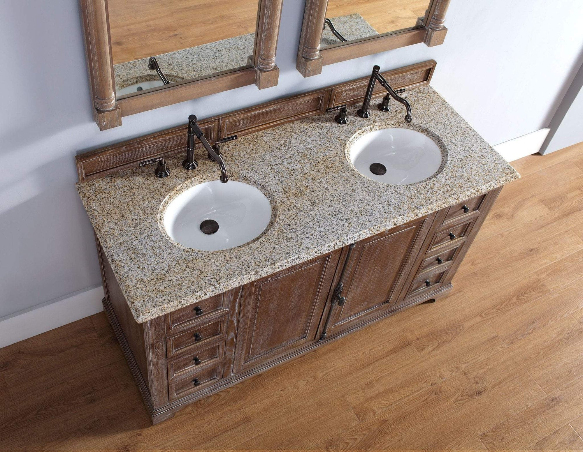 Providence 60 Double Vanity Cabinet Driftwood Luxury Bath Collection