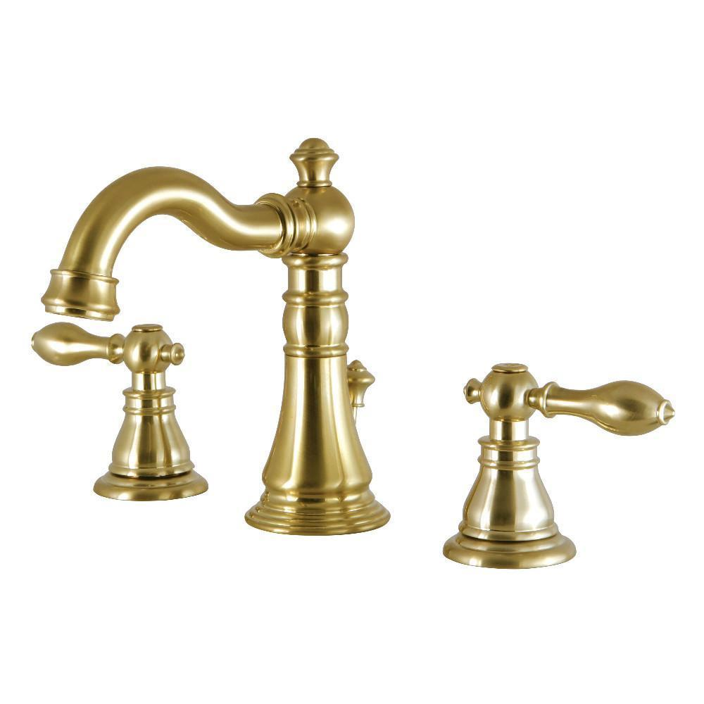 Fauceture American Classic Widespread Bathroom Faucet Satin Brass