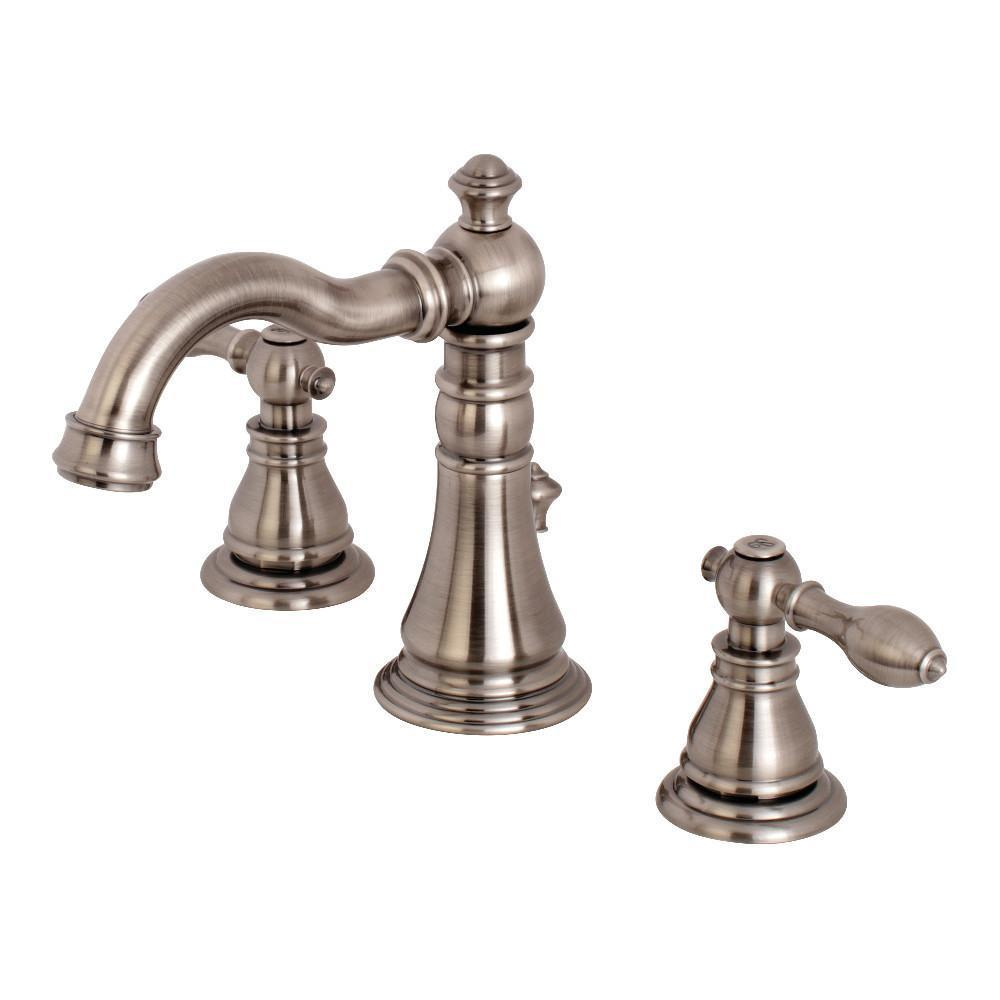 Fauceture American Classic Widespread Bathroom Faucet Black Stainless