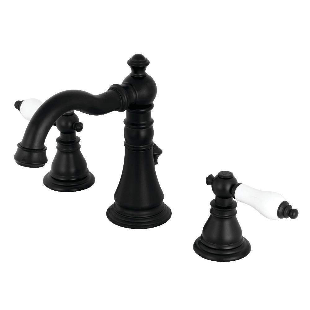 Fauceture American Patriot Widespread Bathroom Faucet Matte Black