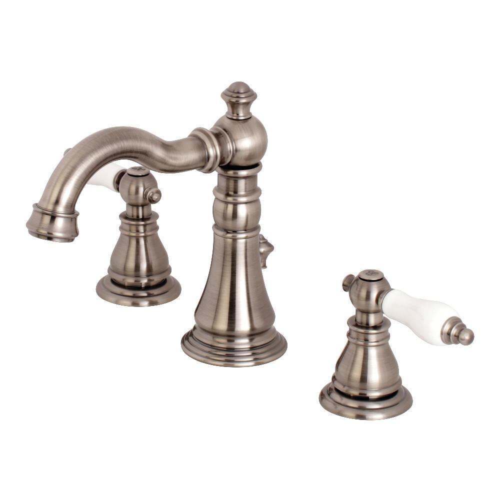 Fauceture American Patriot Widespread Bathroom Faucet Black Stainless