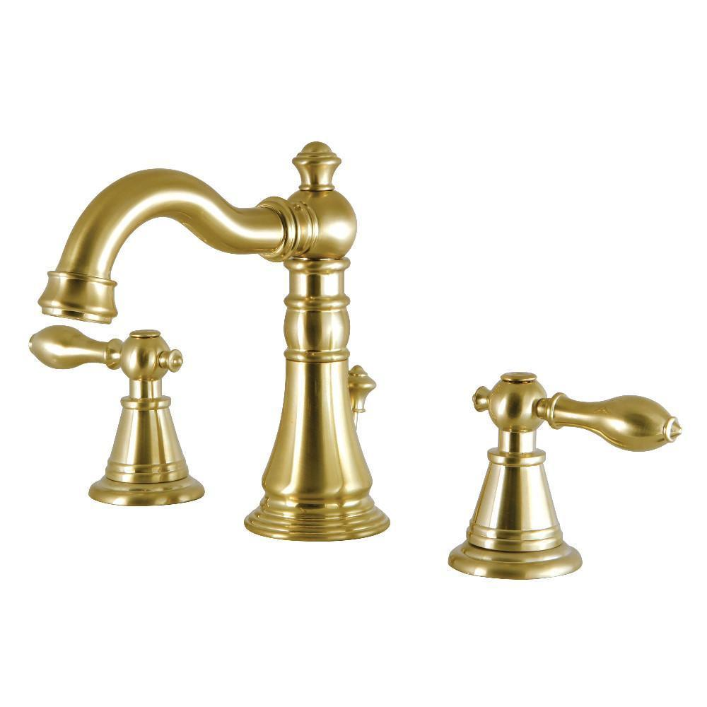 Fauceture English Classic Widespread Bathroom Faucet Satin Brass