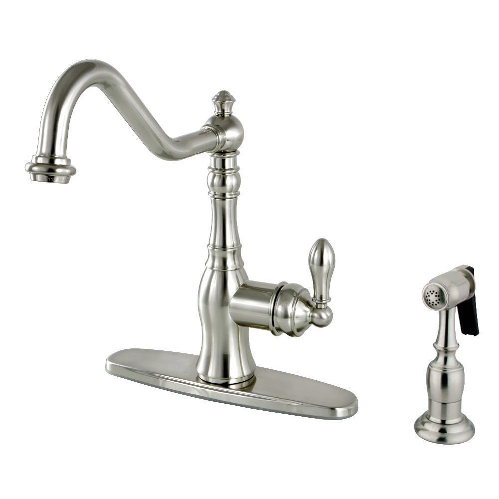 Gourmetier American Classic One Handle Kitchen Faucet Brushed Nickel