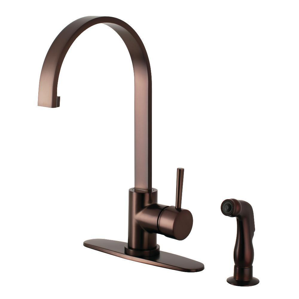 Gourmetier Concord One Handle Kitchen Faucet Oil Rubbed Bronze