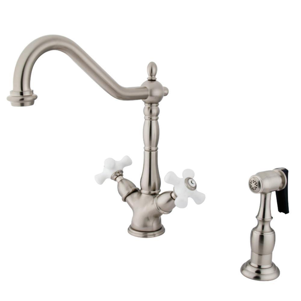 Kingston Brass Heritage Two Handle Single-Hole Kitchen Faucet