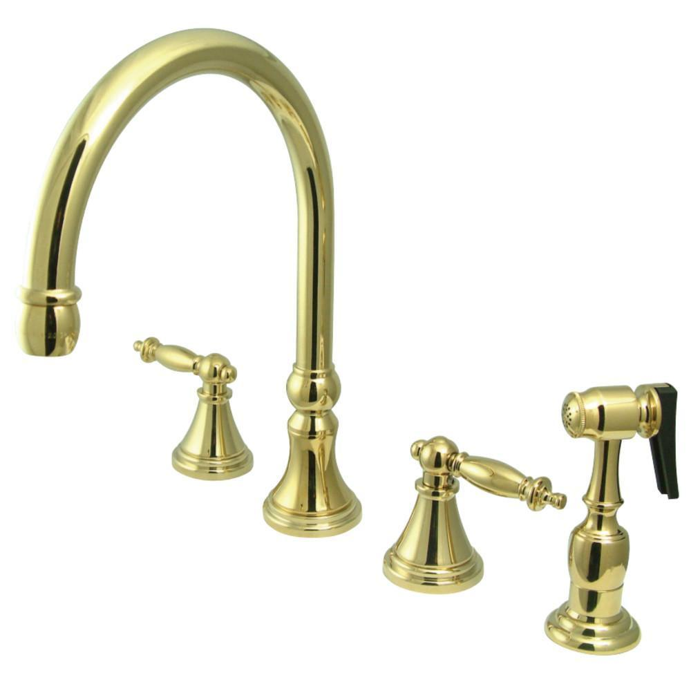 Kingston Brass Tuscany Widespread Kitchen Faucet