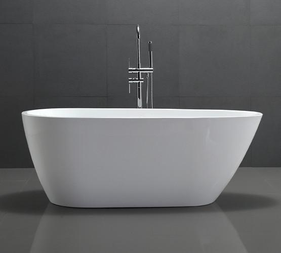 "68"" White Acrylic Egg Shaped Tub - No Faucet"