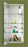 "Illusion 13""x36"" Medicine Cabinet, Recess Mount, Glass Frame"