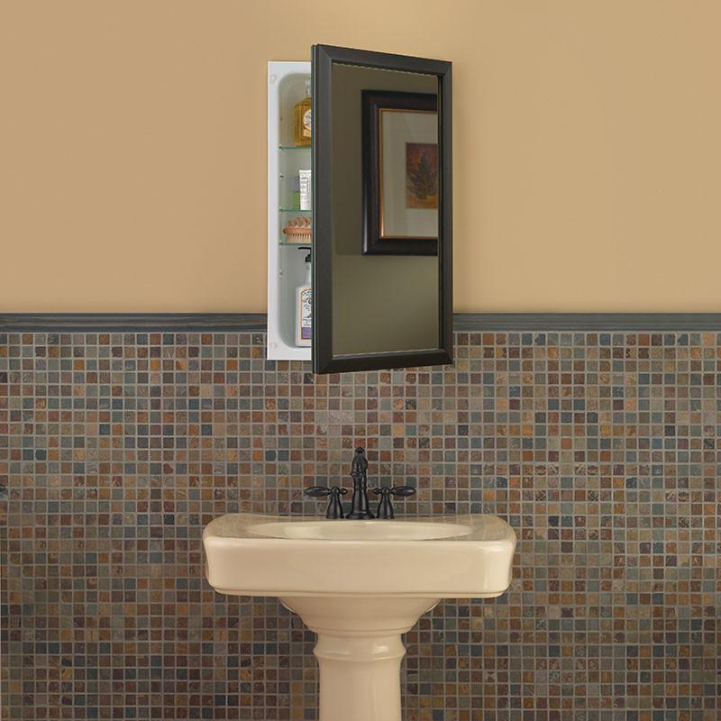 hampton 15 3 4 x 25 1 2 recess mount oil rubbed bronze medicine cabinet_625n244bzc