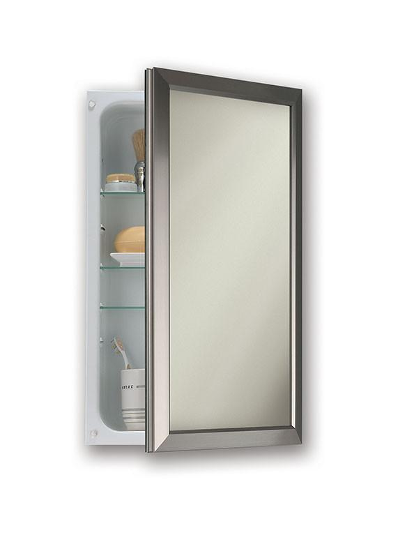 hampton 15 3 4 x 25 1 2 recess mount satin nickel medicine cabinet_625n244snc