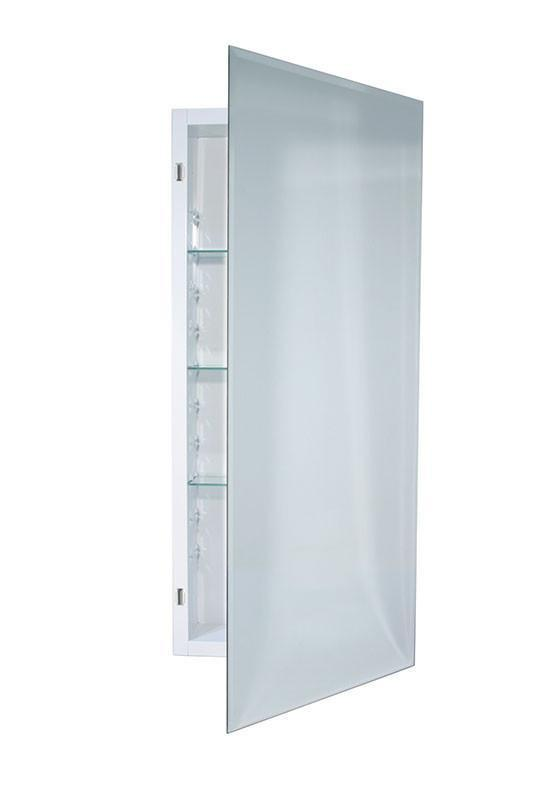 horizon 16 x 36 recess mount glass shelves medicine cabinet_868p34whg