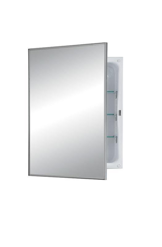 styleline 16 x 22 surface mount glass shelves medicine cabinet_473fs