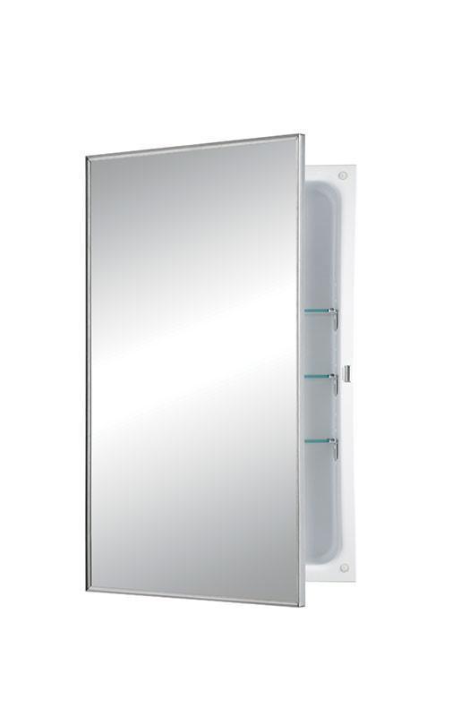 styleline 16 x 26 recess mount glass shelves medicine cabinet_470fs