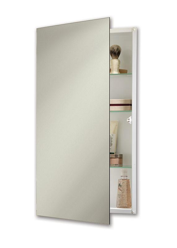 ultra 15 x 26 recess mount glass shelves medicine cabinet_869p24whg