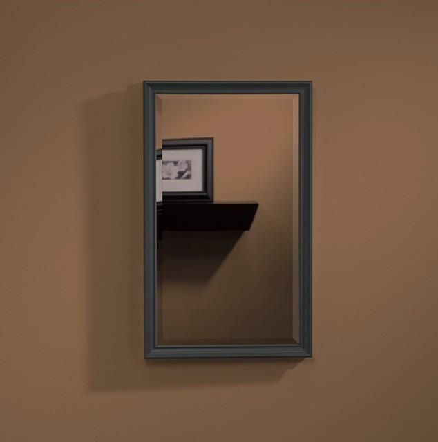 "Studio V Oil Rubbed Bronze Frame 14"" X 34"" Beveled Mirror"