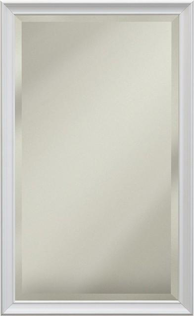 "Studio V White Frame 14"" X 34"" Beveled Mirror"