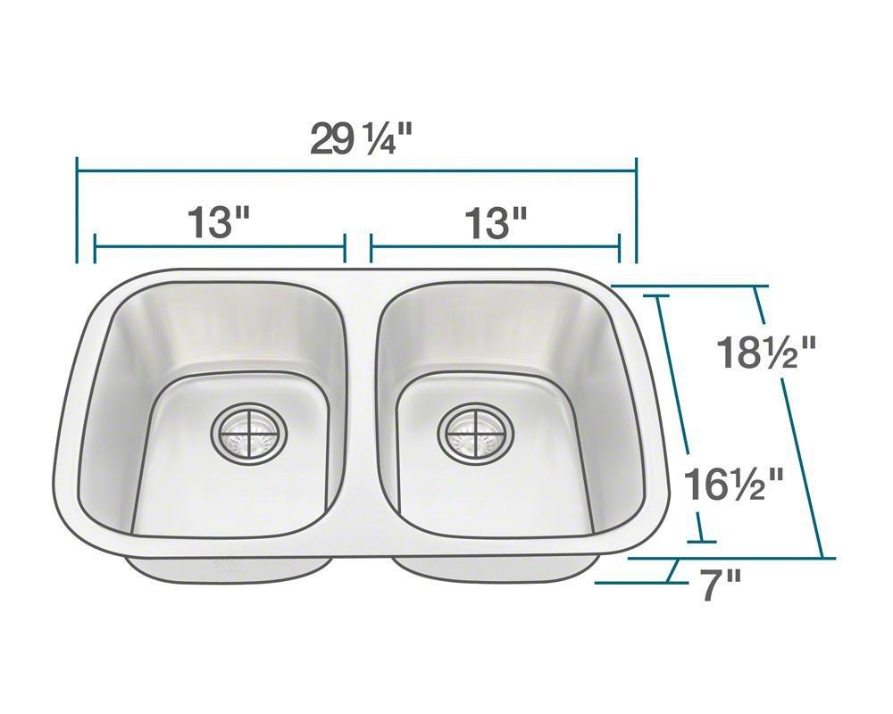 P015-18 Double Bowl Stainless Steel Sink
