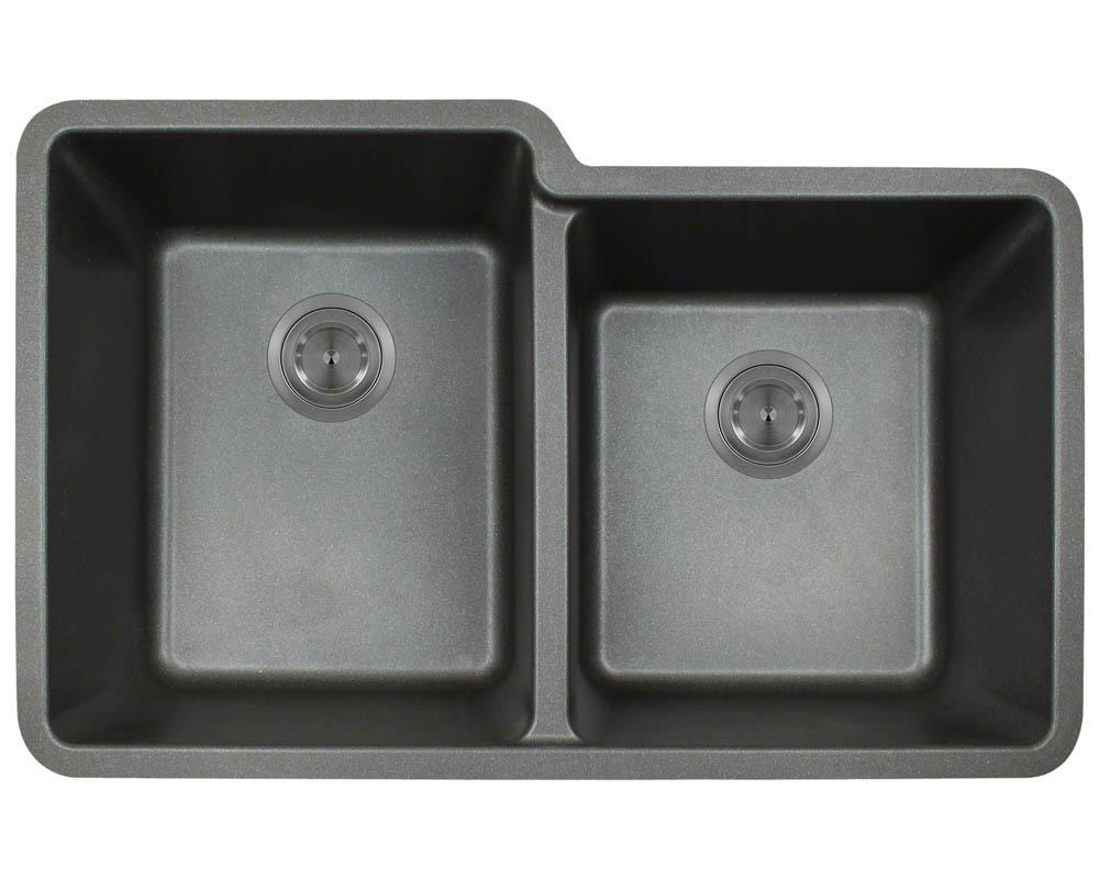 P108BL Double Offset Bowl AstraGranite Sink
