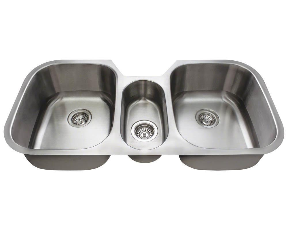 P1254-18 Triple Bowl Stainless Steel