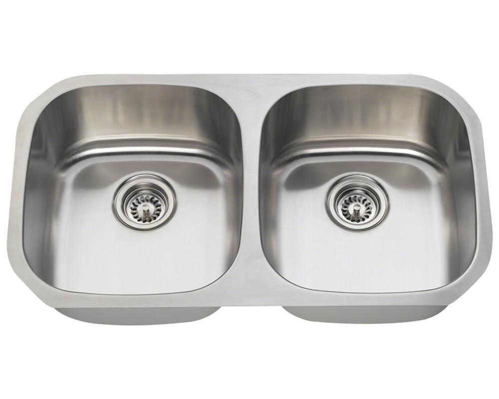 P205-16 Double Bowl Stainless Steel Sink
