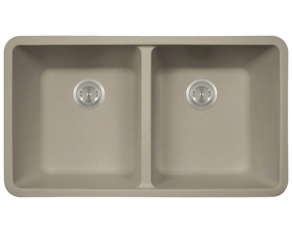 P208ST Double Equal Bowl AstraGranite Kitchen Sink