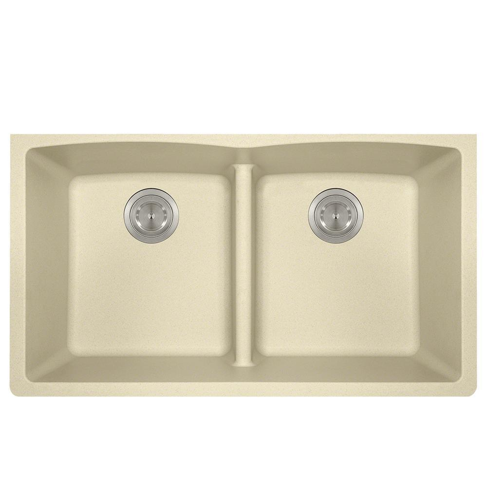P218BE Double Equal Bowl Low-Divide Undermount AstraGranite Sink