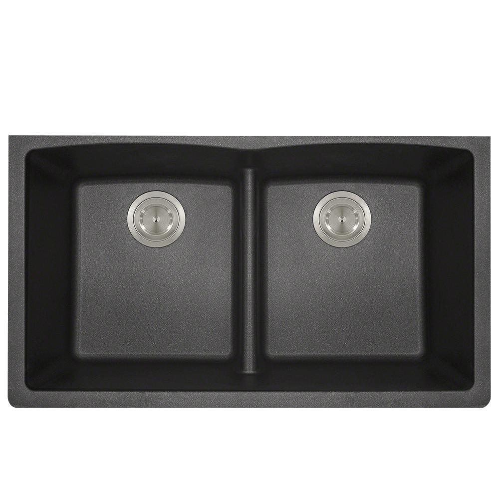 P218BL Double Equal Bowl Low-Divide Undermount AstraGranite Sink