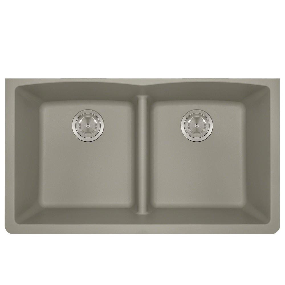 P218ST Double Equal Bowl Low-Divide Undermount AstraGranite Sink