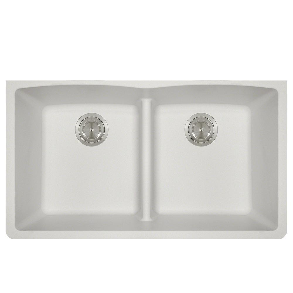 P218W Double Equal Bowl Low-Divide Undermount AstraGranite Sink
