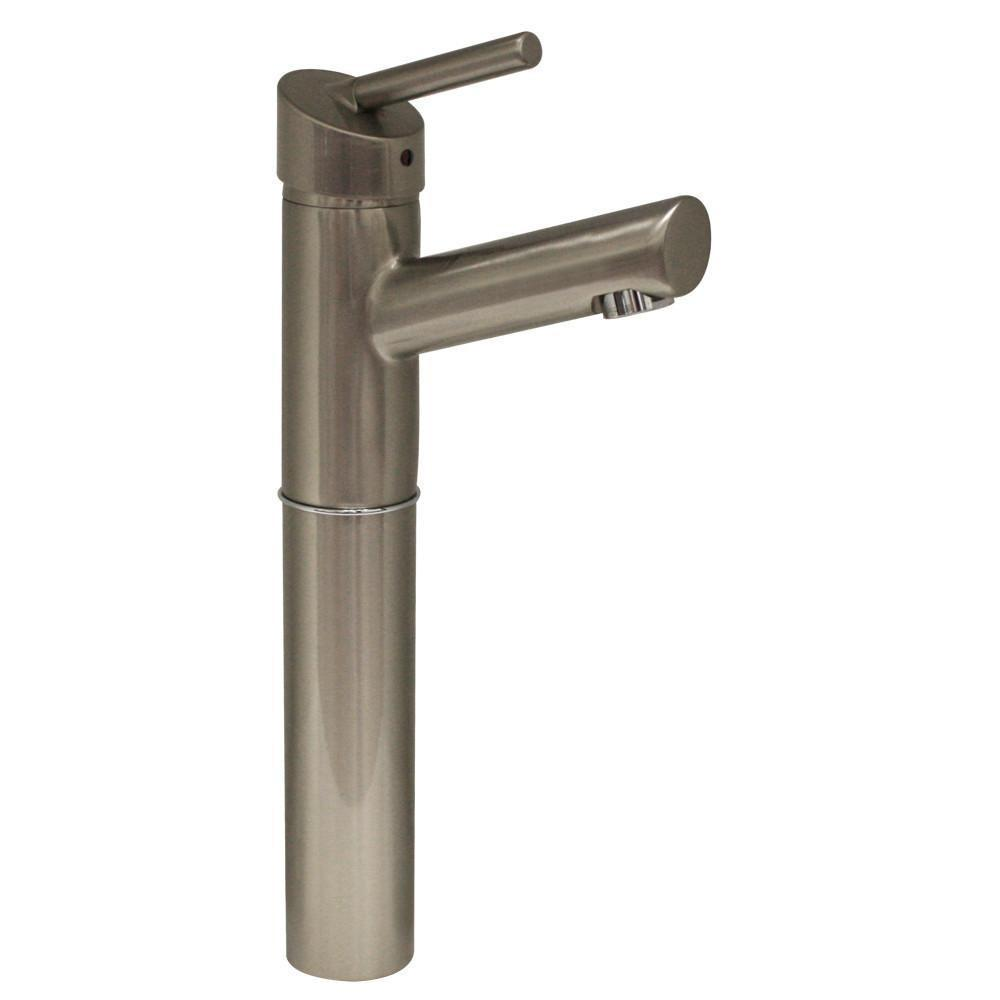 centurion single hole single lever elevated lavatory faucet with 7 extension and short spout