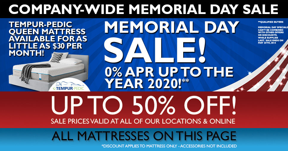 Memorial Day Sale • Mattress Connection
