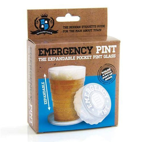 Emergency Pop Up Pint Glass